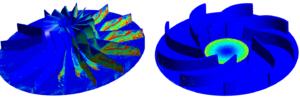 Vergleichsbild zur Darstellung der Unterschiede in der Erosionsrate abhängig von der Methode der Laufradauslegung